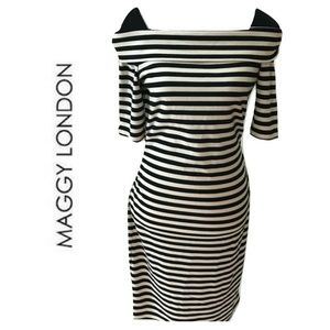 Maggy London Size 10 Dress Wiggle Boat Neckline
